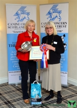 Therapet Organiser of the Year, Area Representative Marion Livingston with Patron Rosemary Long