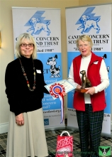 Patron Rosemary Long and Vivien Moen, Area Representative for Badenoch & Strathspey, recipient of the The Ki-Chu-Asha Stars of Hope Memorial Trophy