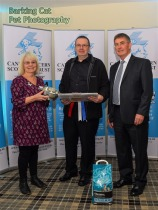 John Kerr presented with his award as Organiser of the Year by Patron Rosemary Long and CCST Chairman, Allan Sim.